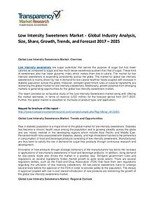 Low Intensity Sweeteners Market Growth, Trend, and Forecast To 2024