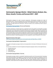 Contraceptive Sponges Market Growth and Forecasts To 2027