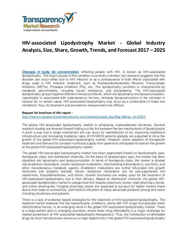 HIV-associated Lipodystrophy Market Growth, Price and Forecast HIV-associated Lipodystrophy Market - Global Indus