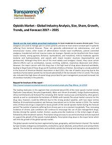 Opioids Market Growth, Trend, Price, Demand and Forecasts To 2025