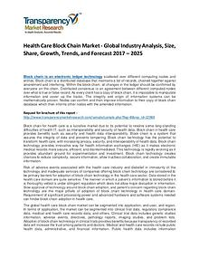 Health Care Block Chain Market Growth, Trend, Demand and Forecast