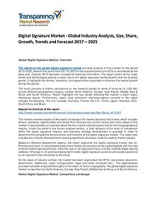 Global Digital Signature Market 2017 Analysis and Forecast to 2025