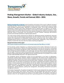 Parking Management Market 2017 Analysis and Forecast to 2024