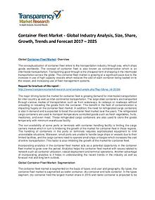 Container Fleet Market – Global Industry Analysis, Size, Share 2025