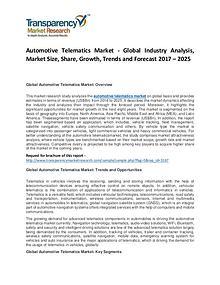 Automotive Telematics Market Forecasts To 2025
