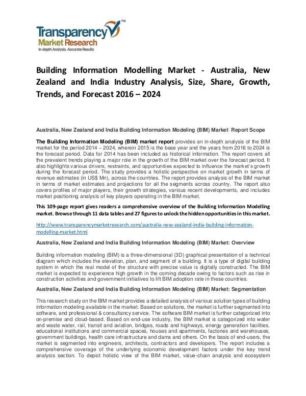 Building Information Modelling Market Size and Forecasts To 2024 Building Information Modelling Market - Australia,