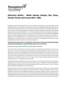 eDiscovery Market Growth, Demand, Price and Forecasts To 2022
