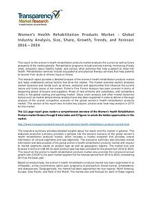 Women's Health Rehabilitation Products Market Research Report 2016