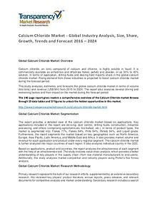 Calcium Chloride Market Size, Share, Growth, Trends and Forecast