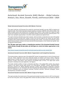 Autoclaved Aerated Concrete Market Growth, Trends and Forecast