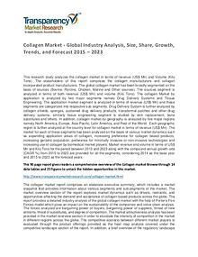 Collagen Market Size, Share, Growth, Trends and Forecasts To 2023