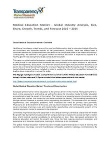 Medical Education Market Size, Share, Growth, Trends and Forecast