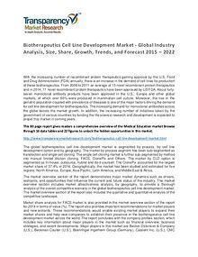 Biotherapeutics Cell Line Development Market Forecasts To 2024