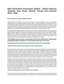 Next Generation Processors Market Size, Share, Trend and Forecast