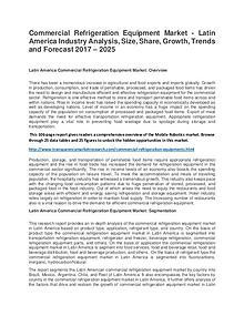 Commercial Refrigeration Equipment Market  2017