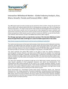 Interactive Whiteboard Market 2016 World Analysis and Forecast