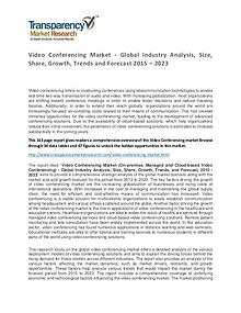 Video Conferencing Global Market Analysis 2015 and Forecasts to 2023