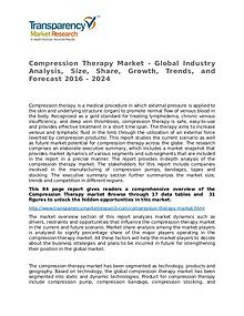 Compression Therapy Market Growth, Trends and Forecast 2016 - 2024