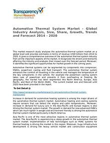 Automotive Thermal System Market Growth, Trends and Forecast 2014