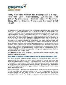 Fatty Alcohols Market Growth, Trend, Price and Forecast to 2023