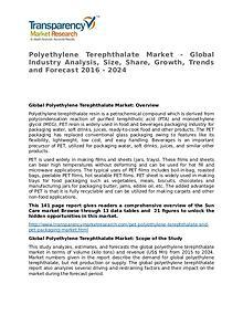Polyethylene Terephthalate Global Analysis & Forecast to 2024