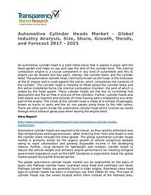 Automotive Cylinder Heads Market – Analysis and Forecasts To 2025