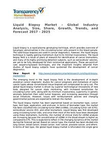 Liquid Biopsy Market – Analysis and Forecasts from 2017 to 2025