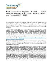 Next Generation Implants Market – Analysis and Forecasts