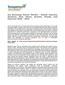Ion Exchange Resins Market – Analysis and Forecasts from 2016 to 2024