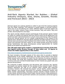 Anti-Tack Agents Market for Rubber 2015 Market