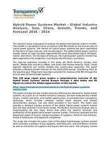 Hybrid Power Systems Market Research Report and Forecast up to 2024