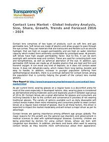 Contact Lens Market Research Report and Forecast up to 2024