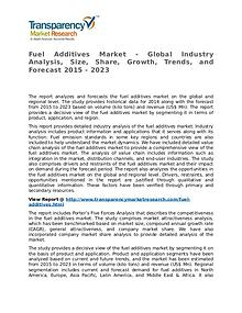 Fuel Additives Market Research Report and Forecast up to 2023