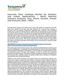 Concrete Floor Coatings Market Research Report and Forecast