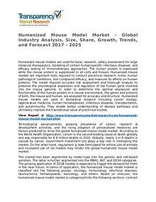 Humanized Mouse Model Market Research Report and Forecast up to 2025