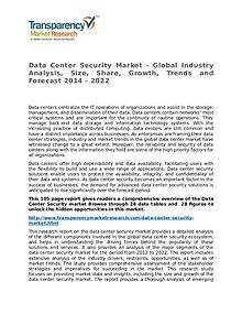 Data Center Security Market Research Report and Forecast up to 2022