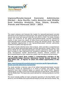 Lignosulfonate-based Concrete Admixtures Market Research Report