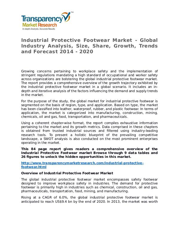 Industrial Protective Footwear Market Research Report and Forecast Industrial Protective Footwear Market - Global Ind