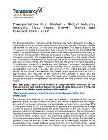 Transportation Fuel Market Research Report and Forecast up to 2022