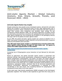Anti-static Agents Market Research Report and Forecast up to 2023