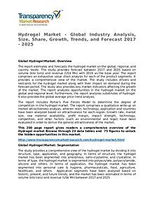 Hydrogel Market Research Report and Forecast up to 2025