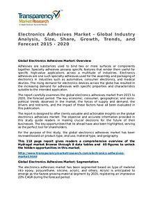 Electronics Adhesives Market Research Report and Forecast up to 2020