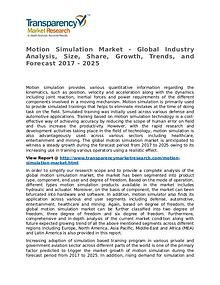 Motion Simulation Market Research Report and Forecast up to 2025