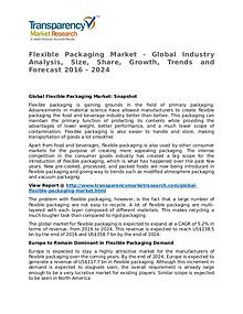 Flexible Packaging Market Research Report and Forecast up to 2024