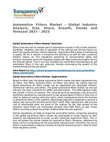 Automotive Filters Market Research Report and Forecast up to 2025