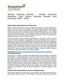 Textile Coating Market Research Report and Forecast up to 2024