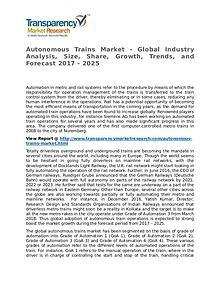 Autonomous Trains Market Research Report and Forecast up to 2025