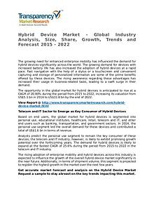 Hybrid Device Market Research Report and Forecast up to 2022