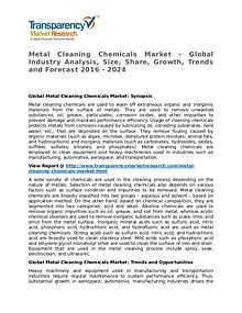 Metal Cleaning Chemicals Market Research Report and Forecast