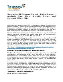 Bioreactor DO Sensors Market Research Report and Forecast up to 2024